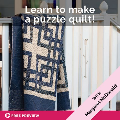 Learn to make a puzzle quilt!
