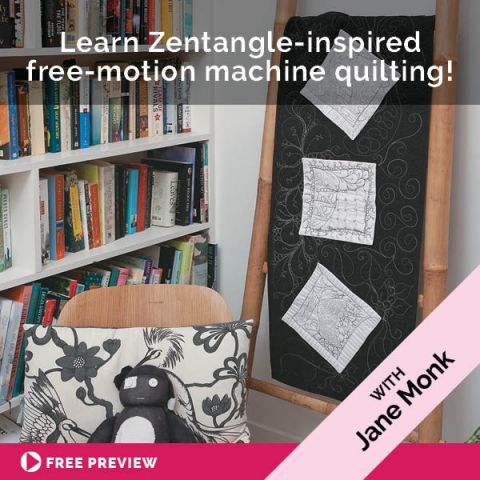 Learn Zentangle-inspired free-motion machine quilting!