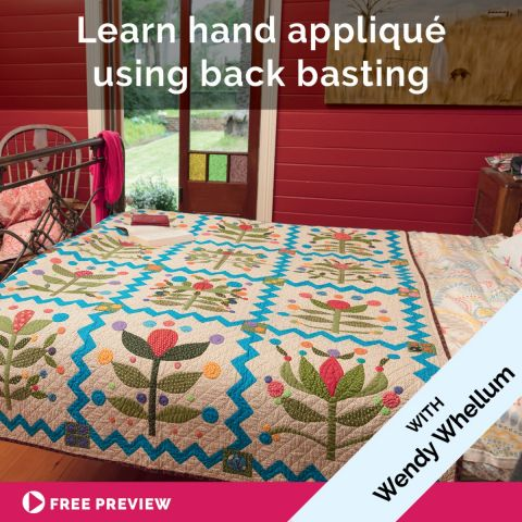 Learn hand appliqué using back basting