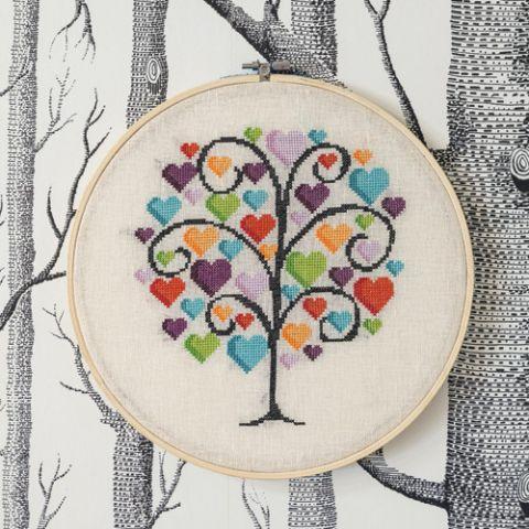Tree Of Love Cross Stitch