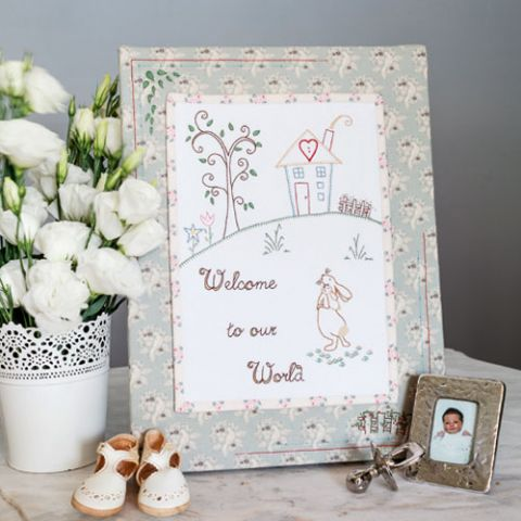 Welcome Baby Embroidery