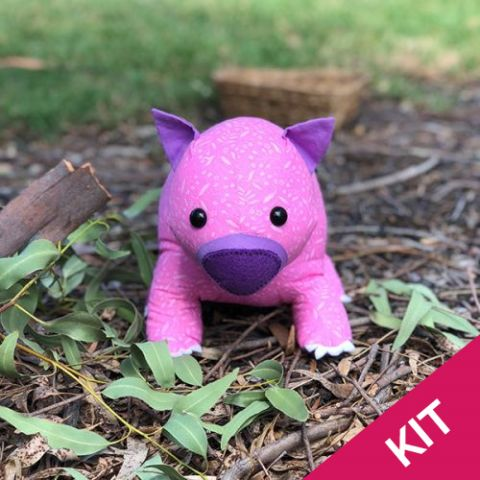 Kit: Wendy the wombat softie
